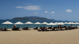 Nha Trang's beach is stunning, even though it's packed with Russians...