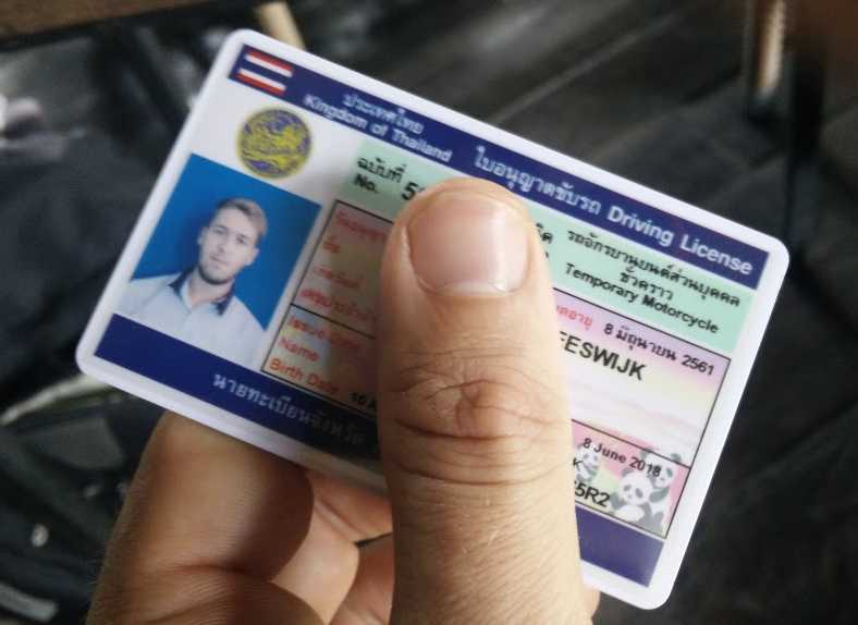 How To Get A Thai Motorbike Driver's License On A Tourist Visa Without A License From Your Home Country