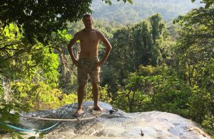 The only valid excuse to post a shirtless picture: climbing the sticky waterfalls near Chiang Mai