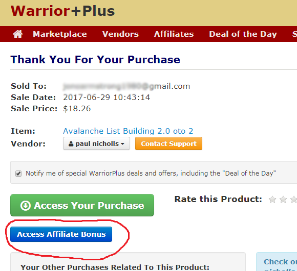 warriorplus bonus access