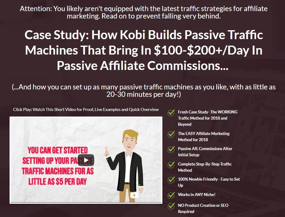 affiliate revival review sales page