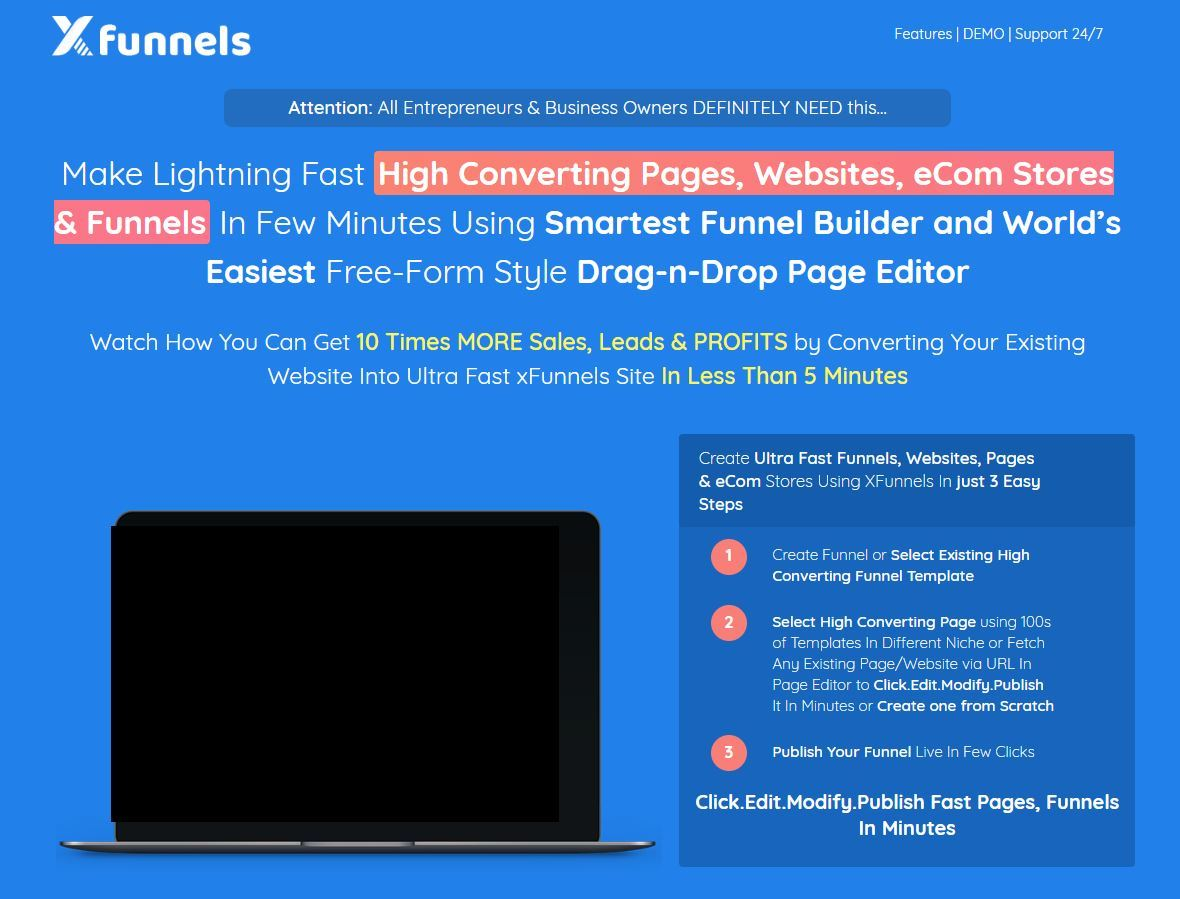 xfunnels review sales page